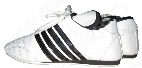 Обувь для таэквондо Larsen PS-1006Прочие товары для единоборств<br>Обувь для таэквондо Larsen PS-1006 имеет удобную нескользящую подошву с ребристой поверхностью. Верх обуви произведен из кожи. Удобная посадка по ноге позволяет полностью сосредоточиться на отработке техники защиты и нападения и не отвлекаться на чувство дискомфорта, которое может быть при использовании обуви худшего качества.<br>