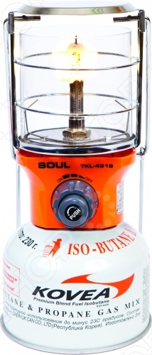 Лампа газовая Kovea Soul Gas LanternГазовые лампы<br>Лампа газовая Kovea Soul Gas Lantern это отличная лампа, которая станет для вас источником света в самой непроглядной чаще. Лампа выполнена на основе сжигания газообразного топлива. Газовая лампа часто используется туристами, это обусловлено тем, что лампы такого типа можно легко взять с собой.<br>