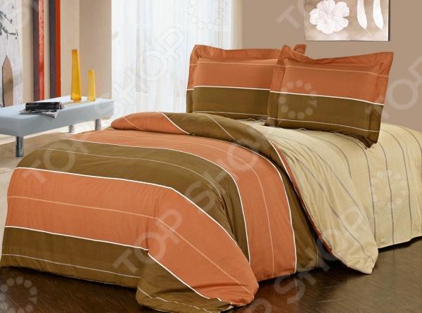 Комплект постельного белья Softline 09954. 2-спальный2-спальные<br>Комплект постельного белья Softline 09954 это незаменимый элемент вашей спальни. Человек треть своей жизни проводит в постели, и от ощущений, которые вы испытываете при прикосновении к простыням или наволочкам, многое зависит. Чтобы сон всегда был комфортным, а пробуждение приятным, мы предлагаем вам этот комплект постельного белья. Красивое оформление и высокое качество комплекта гарантируют, что атмосфера вашей спальни наполнится теплотой и уютом, а вы испытаете множество сладких мгновений спокойного сна. В качестве сырья для изготовления этого изделия использованы нити хлопка. Натуральное хлопковое волокно известно своей прочностью и легкостью в уходе. Волокна хлопка состоят из целлюлозы, которая отлично впитывает влагу. Хлопок дышит и согревает лучше, чем шелк и лен. Не забудем, что хлопок несъедобен для моли и не деформируется при стирке. Комплект постельного белья Softline выполнен из ткани сатин. Полотно имеет гладкую и шелковистую лицевую поверхность, не уступающую по качеству шелку. Кроме того, данный тип ткани сохраняет свою прочность и привлекательный вид даже после многочисленных стирок. Главное, соблюдать рекомендации по уходу от производителя. Необходимо стирать при температуре, указанной на ярлычке, с использованием порошка для цветного белья. Не следует прибегать к применению хлорсодержащих средств и отбеливателей. Желательно выворачивать белье наизнанку перед стиркой.<br>