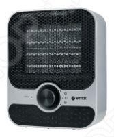 Тепловентилятор Vitek VT-1759Термовентиляторы<br>Тепловентилятор Vitek 1759 имеет строгий стиль - пластиковый корпус с черной защитной сеткой. Внизу вертикального корпуса расположен удобный механический переключатель посредством которого осуществляется управление. Есть два режима мощности: 1001 и 1500 Вт. Безопасность гарантируют: защита от перегрева и отключение при падении. Тепловентилятор Vitek 1759 рассчитан на обогрев помещения не более 15 м2. Обладает небольшим весом, что позволяет без проблем перемещать прибор и устанавливать в любое удобное место.<br>