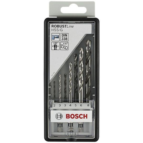 Набор сверл по металлу Bosch Robust Line HSS-G 2607019922Наборы сверл<br>Набор сверл по металлу Bosch Robust Line HSS-G 2607019922 замечательно подходит для того, чтобы вы могли просверлить сквозные или же глухие отверстия в стали, ковком чугуне, металлокерамических сплавах на основе железа, мельхиоре, меди, бронзе, твердых пластмассах, плексигласе. Надёжный и прочный материал, из которого изготовлены все элементы набора обеспечивает отличное качество выполняемых работ, а так же долговечность эксплуатации, что, несомненно, придётся по душе любому мастеру.<br>