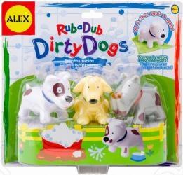 Набор для ванны ALEX «Вымой щенка»Игрушки для купания малышей<br>Набор для ванны ALEX Вымой щенка станет замечательным подарком для вашего малыша. Игрушка понравится как деткам, так и взрослым. Теперь купаться станет еще интереснее. Красочные фигурки выполнены в виде забавных собачек. Если игрушку опустить в теплую воду и слегка потереть, щенок становится чистым - пятнышки исчезают. Когда собачка высохнет - пятнышки появятся снова. В процессе игры ребенок будет выдумывать различные сюжеты, развивая свое воображение. Все элементы набора изготовлены из высококачественных полимерных материалов.<br>