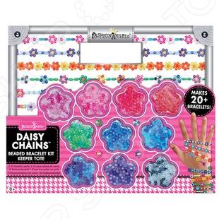 Набор для плетения из бисера Fashion Angels Цветочные фантазии это отличный подарок для девочек. С помощью этого набора можно создать много красивых и оригинальных фенечек и браслетов для себя, мамы или в подарок подружкам. Бисер будет очень удобно хранить в баночках в виде цветка. Плетение бисером развивает мелкую моторику рук, воображение и творческое мышление. В комплекте: разноцветный бисер более 1000шт. , 9 метров лески.