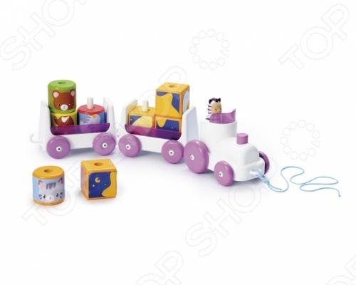 Паровозик Smoby игрушечный 211216 красочный набор, который придется по вкусу вашему малышу. С игрушкой ребенок сможет представлять себе и совершать различные увлекательные поездки. Фигурки могут выниматься из прицепов. Веселая и яркая расцветка паровозика будет привлекать внимание вашего ребенка. Игрушка предназначена для детей от 10 месяца.