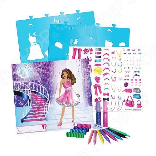 Набор для детского творчества Fashion Angels «Barbie-сверкающая мечта»Наборы для досуга<br>Набор для детского творчества Fashion Angels Barbie-сверкающая мечта это отличный подарок для любой девочки. С помощью этого набора ваша маленькая модница сможет воплотить множество творческих фантазий. Образ шикарной супер звезды можно создать благодаря дополнительным аксессуарам. Набор способствует развитию воображения, моторики рук, а также развивает чувство стиля.<br>