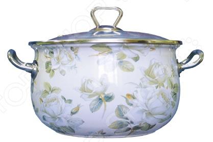 Кастрюля со стеклянной крышкой Interos «Белая роза» кастрюля эм белая роза 5 1л стек крыш 1238602