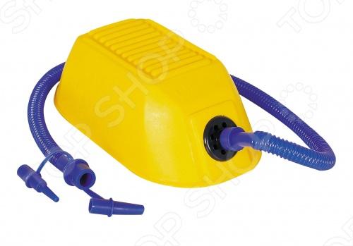 Насос ножной Bestway 62065Насосы<br>Насос ножной Bestway 62065 предназначен для быстрого накачивания и сдувания разнообразных надувных предметов. Насос имеет гибкий шланг и 2 переходника, которые подходят практически для любого клапана. Объем воздуха: 900 см.куб.<br>