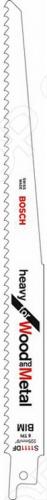 Набор пильных полотен Bosch S 1111 DFНожовочные полотна<br>Полотно пильное Bosch S 1111 DF предназначено для распиловочных работ по металлу, дереву, эпоксидным материалам и стеклопластику при помощи сабельной электроножовки. Для большей эффективности имеет разведенные фрезерованные зубья с шагом 4,3 мм. Биметаллическое полотно идеально для резки толстого листового металла и труб толщиной до 8 мм, древесины толщиной до 175 мм, эпоксидных материалов и стеклопластика до 50 мм.<br>