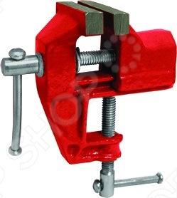 Тиски настольные облегченные FITЗажимной инструмент<br>Настольные облегченные тиски FIT имеют широкое распространение в быту. Служат для работы с мелкими деталями. Благодаря простой конструкции крепления, возможно установка к верстаку или столу разной толщины. Удобное малогабаритное устройство - хороший помощник в гараже или мастерской.<br>
