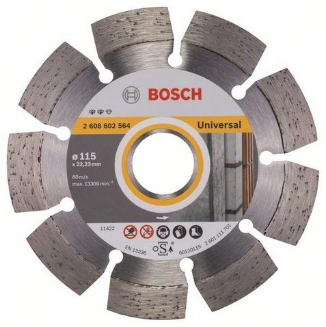 Диск отрезной алмазный для угловых шлифмашин Bosch Expert for Universal диск отрезной алмазный турбо 115х22 2mm 20006 ottom 115x22 2mm