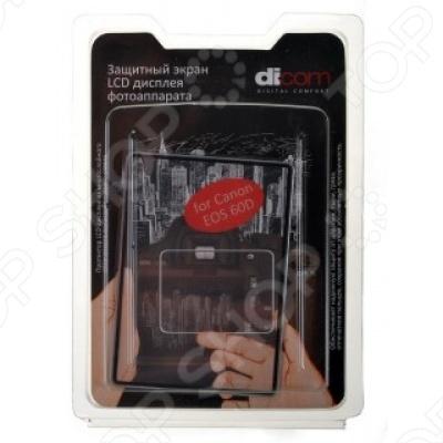 Пленка защитная для дисплея фотокамеры Dicom DC-60D сумка dicom professional um 2991 black orange