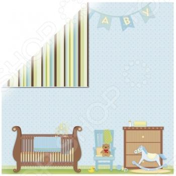 фото Бумага для скрапбукинга Rayher «Маленький мальчик - комната», купить, цена