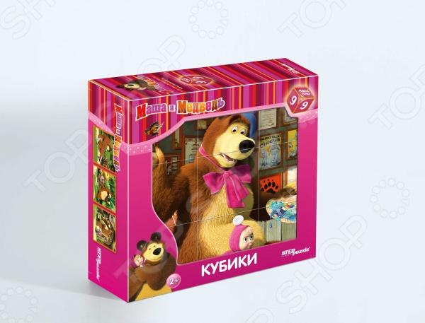 Кубики Step Puzzle «Маша и Медведь» 87133 набор step puzzle пластиковых кубиков анимаккорд 9шт маша и медведь