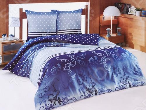 Комплект постельного белья Tete-a-Tete «Сумерки». 2-спальный2-спальные<br>Комплект постельного белья Tete-a-Tete Сумерки 2-спальный необычайно стильный и красивый - станет украшением любой спальни и подарит крепкий и здоровый сон. Ваша постель будет выглядеть безупречно. После стирки ткань станет ещё более лёгкой и шелковистой, поэтому спать на этом белье со временем станет ещё приятнее. Наволочки с клапанами не имеют пуговиц и молний, которые могут поранить кожу во сне. Все изделия комплекта - цельнокроеные, и не имеют грубых швов. Комплект изготовлен из 100 хлопка, плотность 140 г м2. Стирать изделия следует при температуре не выше 30С с использованием щадящих отбеливающих средств, высокотехнологичных моющих средств и ополаскивателей. При стирке изделия не линяют и обладают минимальной усадкой. Комплект упакован в подарочную коробку.<br>