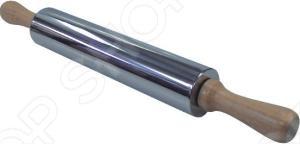 Скалка Regent 93-AC-PR очень проста в использовании. Она используется для раскатывания теста в тонкие пласты. Она изготовлена из нержавеющей стали и дерева. Кухонный аксессуар отличается безупречным качеством, долговечностью, удобством использования.