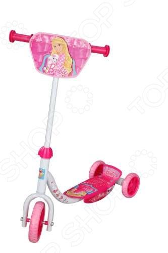Самокат детский 1toy Barbie Т56921    /