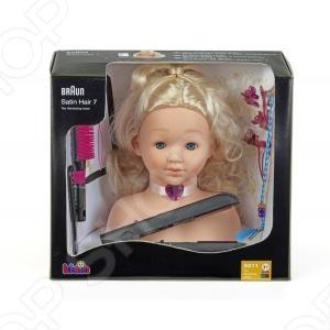 Модель для причесок с утюжком для выпрямления волос Klein Braun наборы аксессуаров для волос esli комплект аксессуаров для волос light yellow
