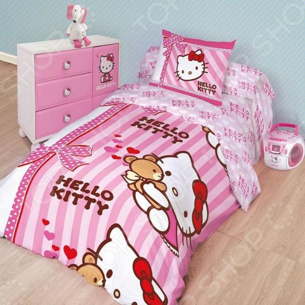 фото Комплект постельного белья Hello Kitty 175668, Детские комплекты постельного белья