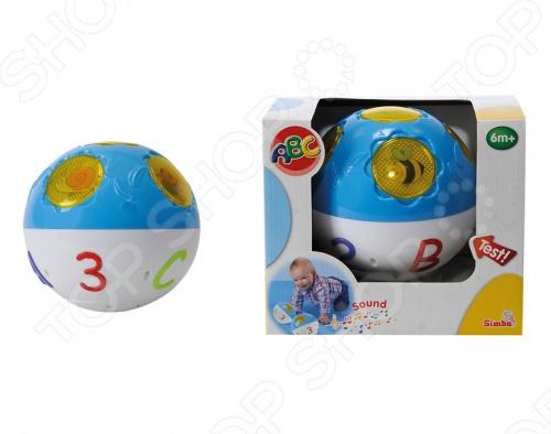 Abc шар Simba интерактивныйДругие интерактивные игрушки и игры<br>Abc шар Simba интерактивный развивающая игрушка со световыми и звуковыми эффектами станет отличным подарком для вашего малыша. При нажатии на буквы в одной половинке мячика, загораются круглые окошечки с изображениями различных животных и насекомых - пчелки, улитки, божьей коровки, бабочки в другой половинке. Каждая буква имеет определенную картинку и свою музыку. Игрушка будет развивать у вашего малыша память и мелкую моторику, при этом знакомя его с буквами и представителями животного мира. Для работы шара необходимо 3 батарейки АА.<br>