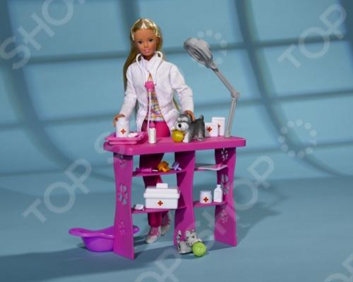 Кукла штеффи-ветеринар Simba 5737393 кукла штеффи в карете simba 5739125