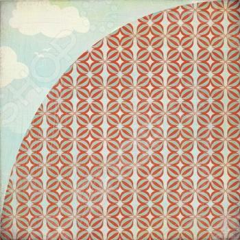 фото Бумага для скрапбукинга двусторонняя Basic Grey Friendly skies, купить, цена