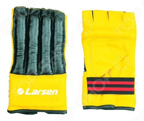 Шингарты Larsen TC-0926 предназначены для тренировок начинающих спортсменов. Эластичная резиновая вставка для фиксации запястья. Выполнены в сочетании желтого и черного цвета. Изготовлены из искусственной кожи