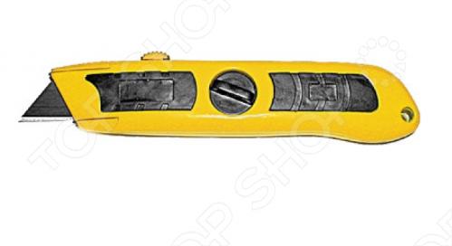 Нож для линолеума FIT 10355Строительные ножи<br>Нож для линолеума FIT 10355 очень практичен и удобен в использовании. К особенностям можно отнести - трапециевидное лезвие из инструментальной стали, металлический оцинкованный корпус с мягкой резиновой вставкой. Упаковка: блистер. Данный нож предназначен для работы с линолеумом.<br>