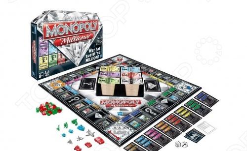 Настольная игра Hasbro Монополия. МиллионерЭкономические игры<br>Настольная игра Hasbro Монополия. Миллионер представляет собой семейную игру, рассчитанную на двоих-шестерых игроков. Она является продолжением знаменитой Монополии . Цель игры: стать миллионером быстрее остальных игроков. Отличительной особенностью этой игры является то, что объектами торговли станут не предприятия и города, а острова, замки, элитная собственность и другие предметы для роскошной жизни. Игра поможет детям развить такие качества как логическое мышление, аналитические способности, терпение и воля к победе.<br>