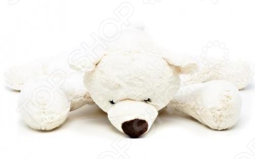 Мягкая игрушка Gulliver Медведь белый лежачий самокат 3 х колесный y scoo maxi city rt shine gagarin трансформер с ручным тормозом blue