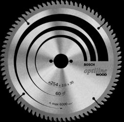 Диск отрезной для торцовочных пил Bosch Optiline Wood 2608640436