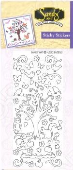 фото Аппликации клейкие с двух сторон JeJe «Сказочное дерево», купить, цена