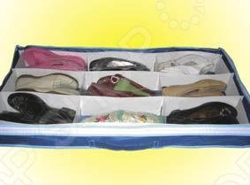 Если вам нравится покупать обувь, тогда вы знаете, как сложно найти место для ее хранения. Органайзер для обуви - отличное решение для хранения и защиты вашей любимой обуви и не только! Теперь Вы сможете компактно хранить 9 пар обуви и все ваши сумки, пояса и другие аксессуары, которые будут надежно защищены от пыли, влаги и всегда доступны. При этом вы даже не заметите, как освободится огромное пространство в вашем шкафу, прихожей и кладовке. Органайзер для обуви легко хранить под кроватью или в шкафу, куда его можно поместить всего одним движением. Удобно: прозрачный верх не нужно открывать, чтобы увидеть, где вы разместили обувь, носки, ремни, кошельки, а также игрушки. И больше никакого беспорядка в шкафу!