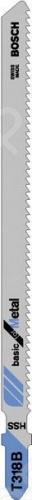 Набор пилок для лобзика Bosch T 318 В HSS пилка для лобзика bosch 2609256746 2609256746