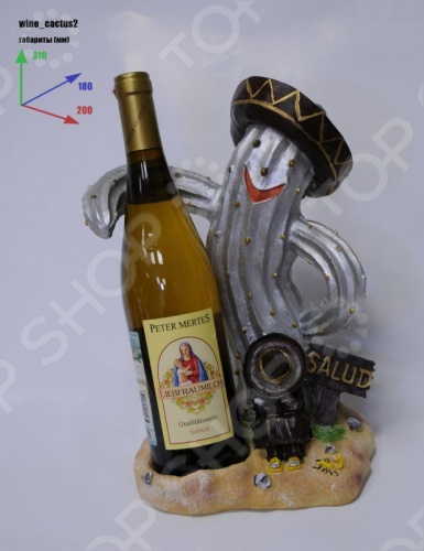 Подставка для вина Drivemotion «Кактус в шляпе»