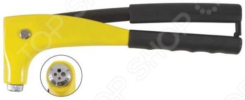 Заклепочник FIT 32030 предназначен для крепления вытяжных алюминиевых и стальных заклепок. Является удобным инструментом для соединения деталей в труднодоступных местах. Обладает прочным корпусом с удобными рукоятками. На рукояти расположен запор для фиксации в нерабочем состоянии.