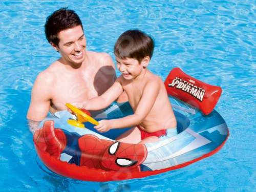 Лодка надувная детская Bestway Spider-Man 98009 лодка надувная лидер 430 зеленая