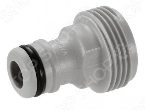 Адаптер садовый Gardena 2921 предназначен для различных типов разбрызгивателей с диаметром 26,5 мм, не имеющих коннектора к базовой системе. Он легок и весьма прост в использовании. Адаптер изготовлен из пластика, что исключает появление на нем ржавчины, а резиновое уплотнительное кольцо предотвращает от протекания и обеспечивает надежное крепление.