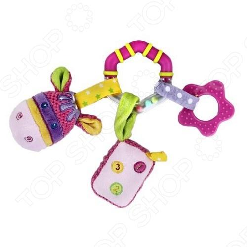 Игрушка развивающая с погремушкой Жирафики Подвеска Коровка имеет интересный дизайн и яркий окрас. Развивающая игрушка для детей способствует развитию восприятия цветов и форм, фактур, размеров. Изготовлена игрушка из высококачественных и безопасных материалов, поэтому подойдет для игры самых маленьких.