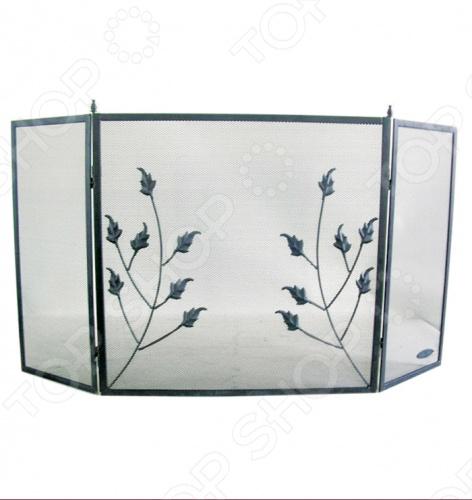 Экран для камина Банные штучки 62022Аксессуары для печей и каминов<br>Экран для камина Банные штучки 62022 выполненный из металла в виде трех решетчатых створок, прекрасно впишется в интерьер комнаты и станет изящным декоративным элементом. Каминный экран необходим для улучшения циркуляции воздуха, что помогает быстро и равномерно нагреть помещение. Также экран защит от искр и угольков, вылетающих из камина, тем самым предотвратит вероятность возникновения пожара или получения ожога.<br>