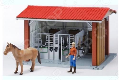 Игровой набор Bruder Конюшня с всадницей и лошадью 62-520