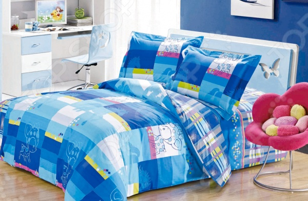 Комплект постельного белья Softline 09335. 1,5-спальный1,5-спальные<br>Комплект постельного белья Softline 09335 это незаменимый элемент вашей спальни. Человек треть своей жизни проводит в постели, и от ощущений, которые вы испытываете при прикосновении к простыням или наволочкам, многое зависит. Чтобы сон всегда был комфортным и безмятежным, а пробуждение лёгким и приятным, мы предлагаем вам этот качественный комплект постельного белья. Благодаря красивой расцветке и высококлассным материалам изготовления, атмосфера вашей спальни наполнится теплотой и уютом, а вы испытаете множество сладостных мгновений спокойного сна. В качестве сырья для изготовления этого изделия использованы нити хлопка. Натуральное хлопковое волокно известно своей прочностью и легкостью в уходе. Волокна хлопка состоят из целлюлозы, которая отлично впитывает влагу. Хлопок дышит и согревает лучше, чем шелк и лен. Поэтому одежда из хлопка гарантирует владельцу непревзойденный комфорт, а постельное белье приятно на ощупь и способствует здоровому сну. Не забудем, что хлопок несъедобен для моли и не деформируется при стирке. За эти прекрасные качества он пользуется заслуженной популярностью у покупателей всего мира.<br>