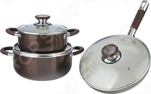 Набор кухонной посуды Bohmann BН-6206 набор посуды travola с антипригарным покрытием цвет красный 5 предметов