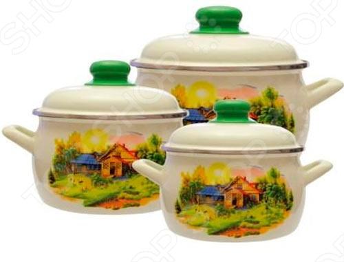 Набор посуды Metrot Домик в деревне кастрюля с крышкой metrot домик в деревне