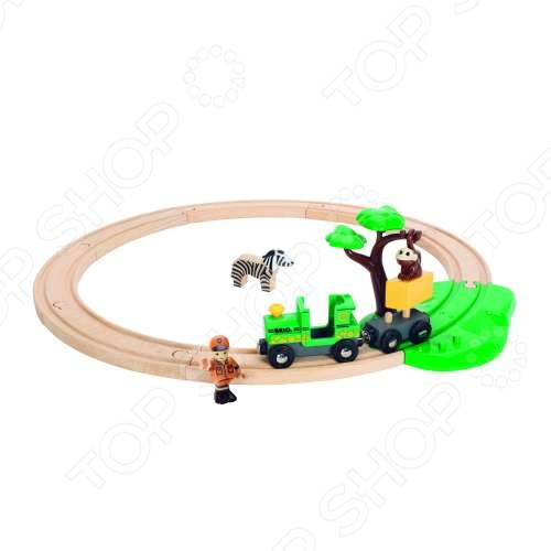 Железная дорога с мартышкой Brio 33720 железные дороги brio железная дорога с автодорогой и переездом