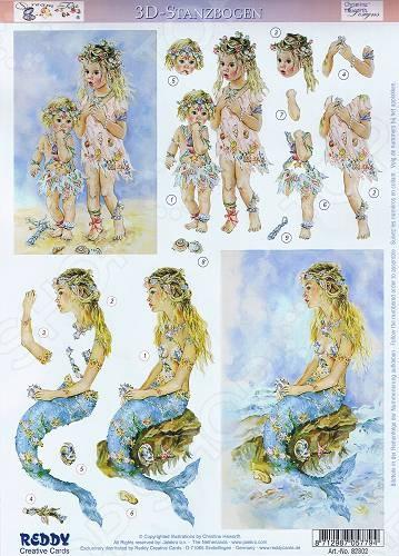 фото Аппликация вырубная для объемных рисунков Reddy Creative Cards «Песочные детки, утро», купить, цена