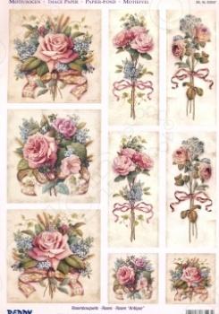 фото Аппликация вырубная для объемных рисунков Reddy Creative Cards «Античные розы», купить, цена