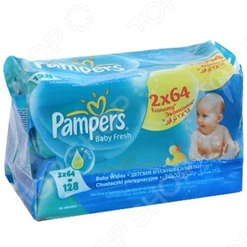 Салфетки влажные - сменный блок Pampers Baby Fresh Duo мерриес салфетки влажные 0 54шт сменный блок