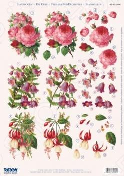 фото Аппликация вырубная для объемных рисунков Reddy Creative Cards «Розы, фуксия», купить, цена