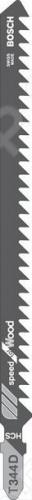 Набор пилок для лобзика Bosch T 344 D HCS