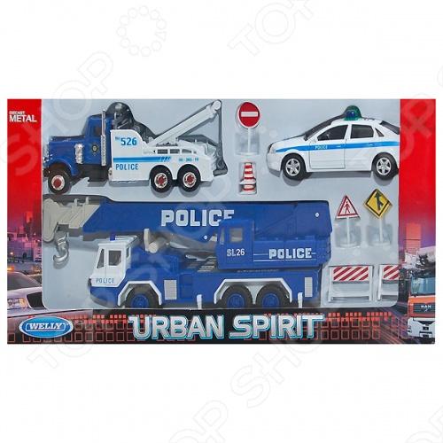 Набор машинок игрушечных Welly «Полиция» 99610-10AМашинки<br>Набор машинок игрушечных Welly Полиция 99610-10A - это замечательный набор качественных игрушек с оригинальным дизайном. Модели имеют крутящиеся колеса, изготовлены из ударопрочного пластика. Отлично подходят для игры как дома, так и на улице с друзьями. Игрушки готовы подарить вашим детям отличное времяпрепровождение и массу удовольствия за игрой.<br>